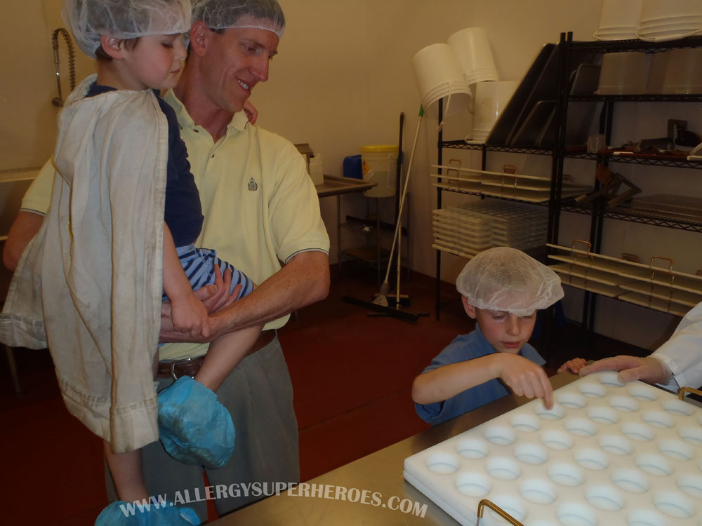 Allergy Superheroes Tour of the SunCups (now Free2b) Facility! | Allergy Superheroes Blog