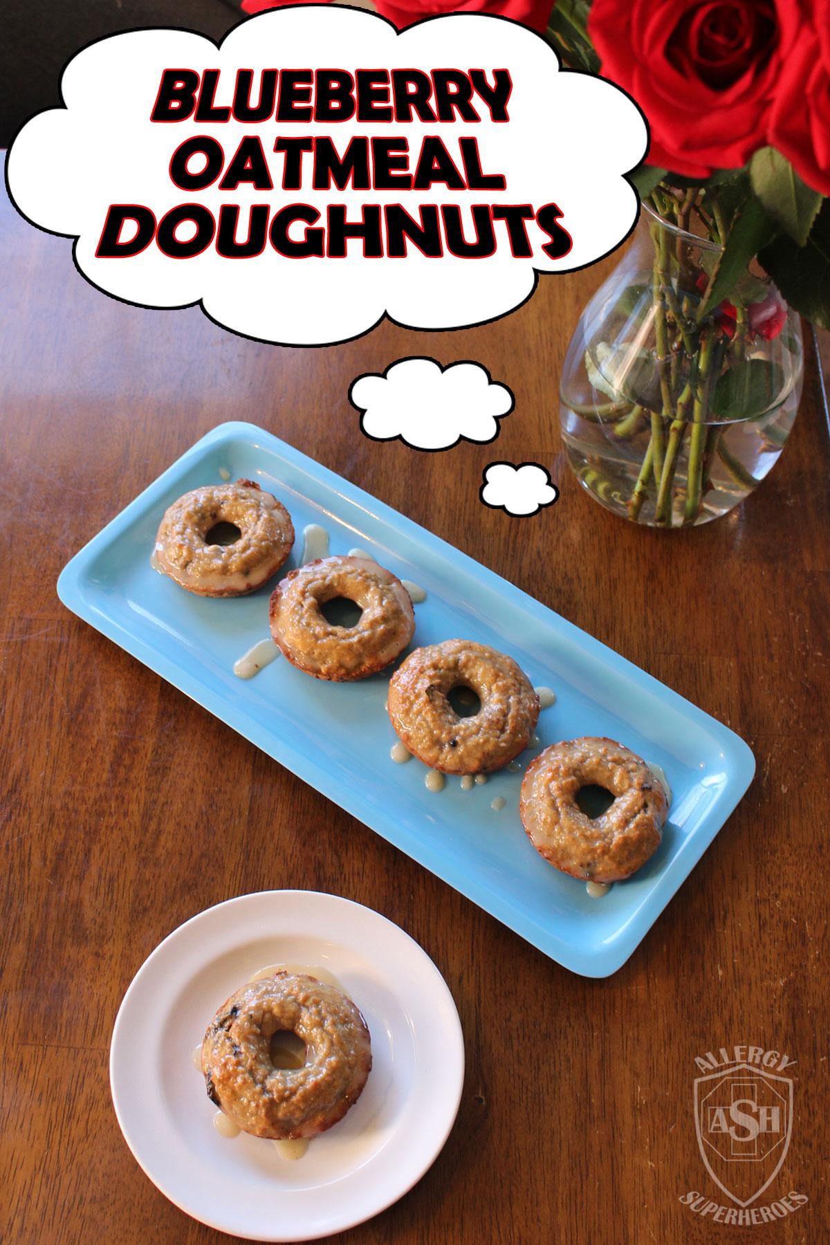 Blueberry Oatmeal Doughnuts