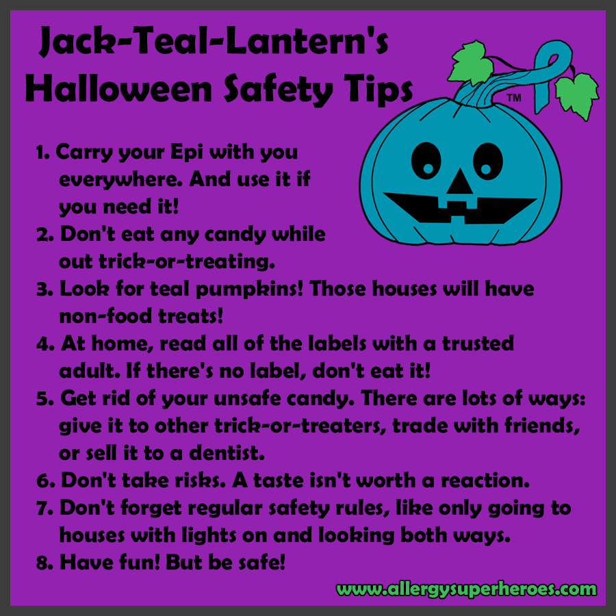 Jack-Teal-Lantern's Halloween Safety Tips