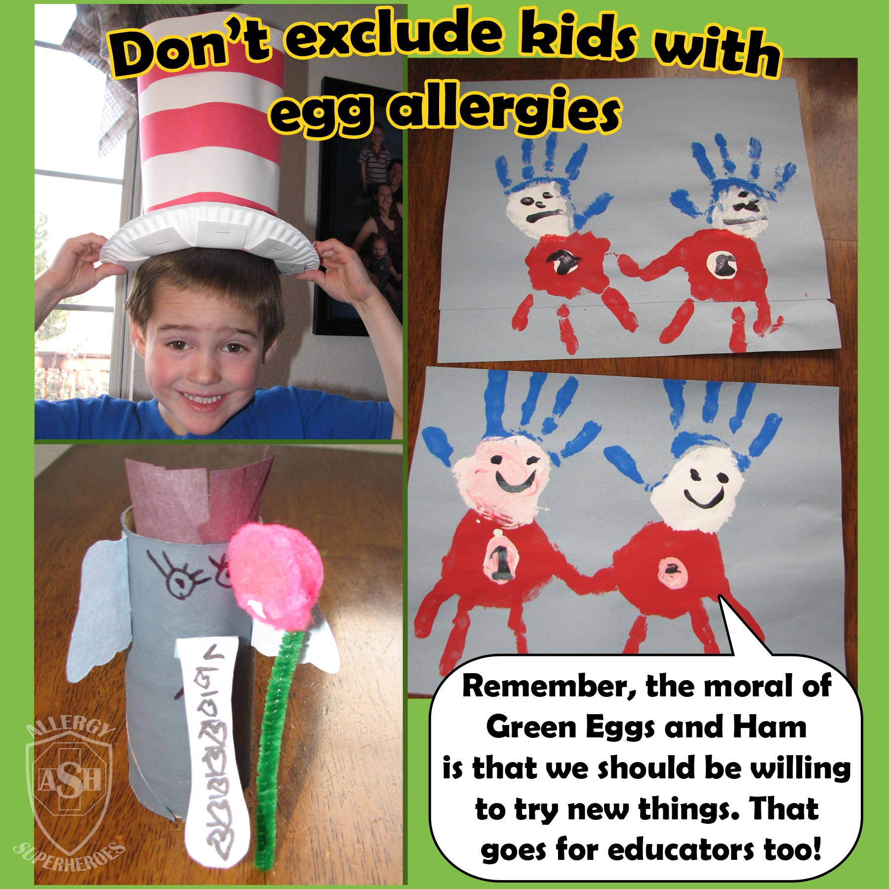 Dr. Seuss fun without real green eggs   Allergy Superheroes