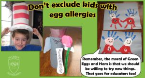 Dr. Seuss fun without real green eggs | Allergy Superheroes