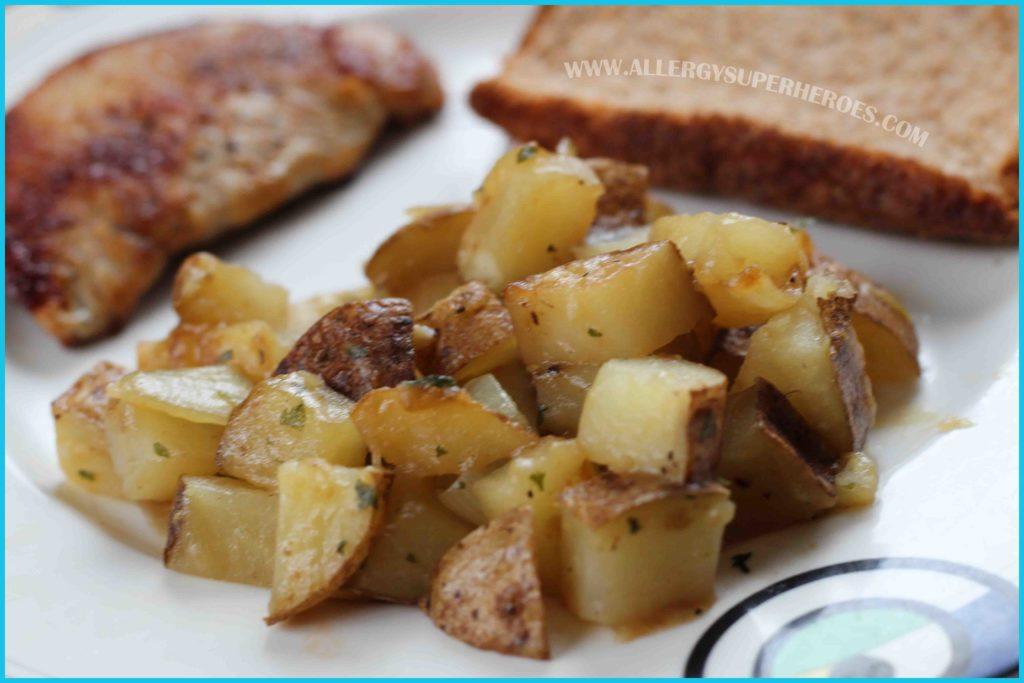 Easy Potatoes Boulanger recipe Food Allergy Superheroes 08