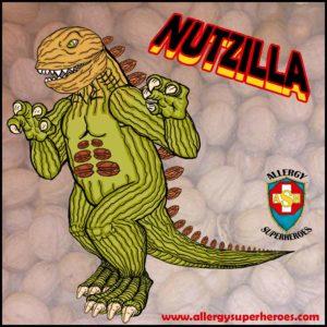 Meet Nutzilla Food Allergy Superheroes Tree Nut Allergy