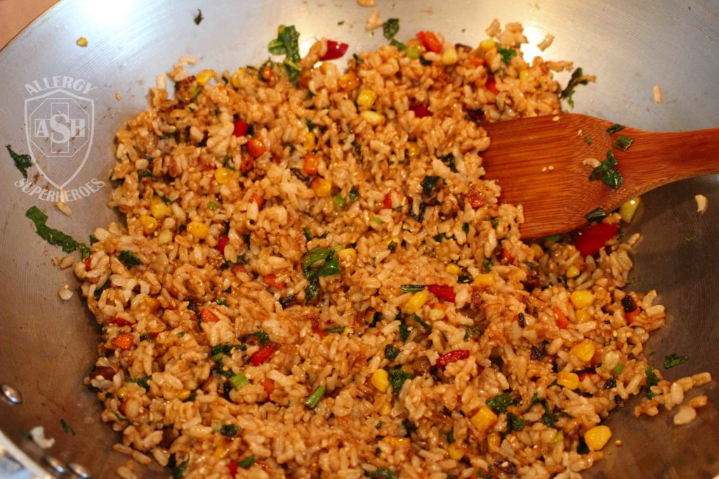 Fried Rice recipe Food Allergy Superheroes 10