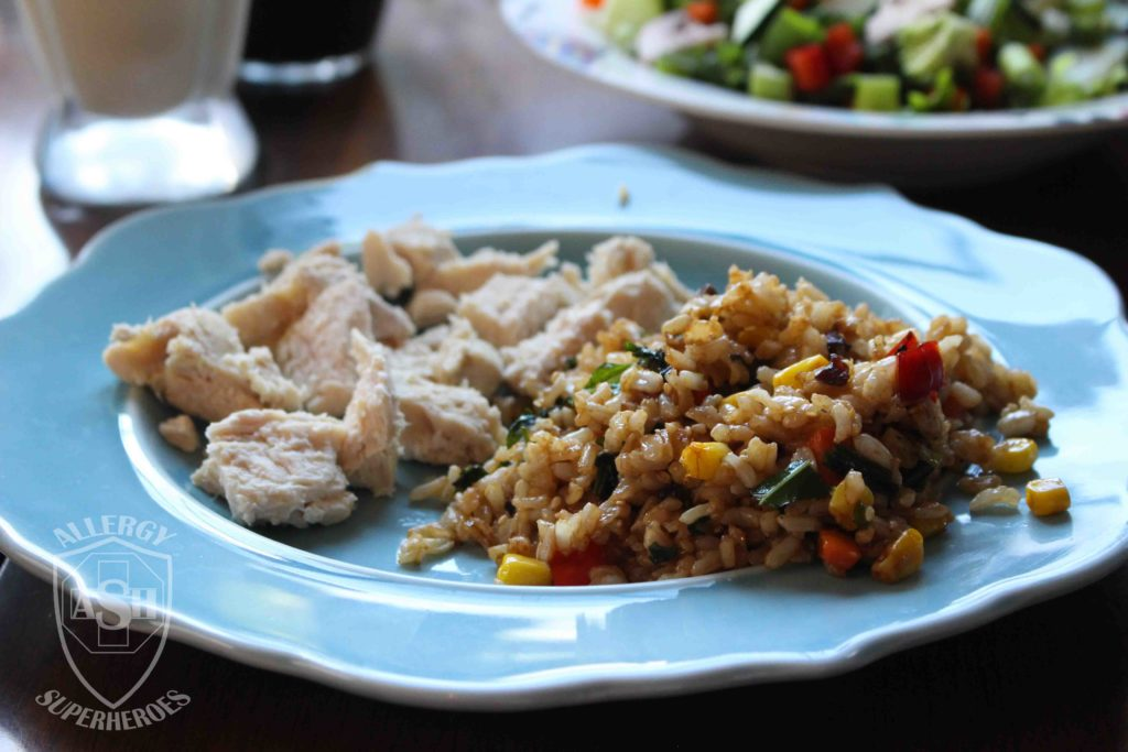 Fried Rice recipe Food Allergy Superheroes 11