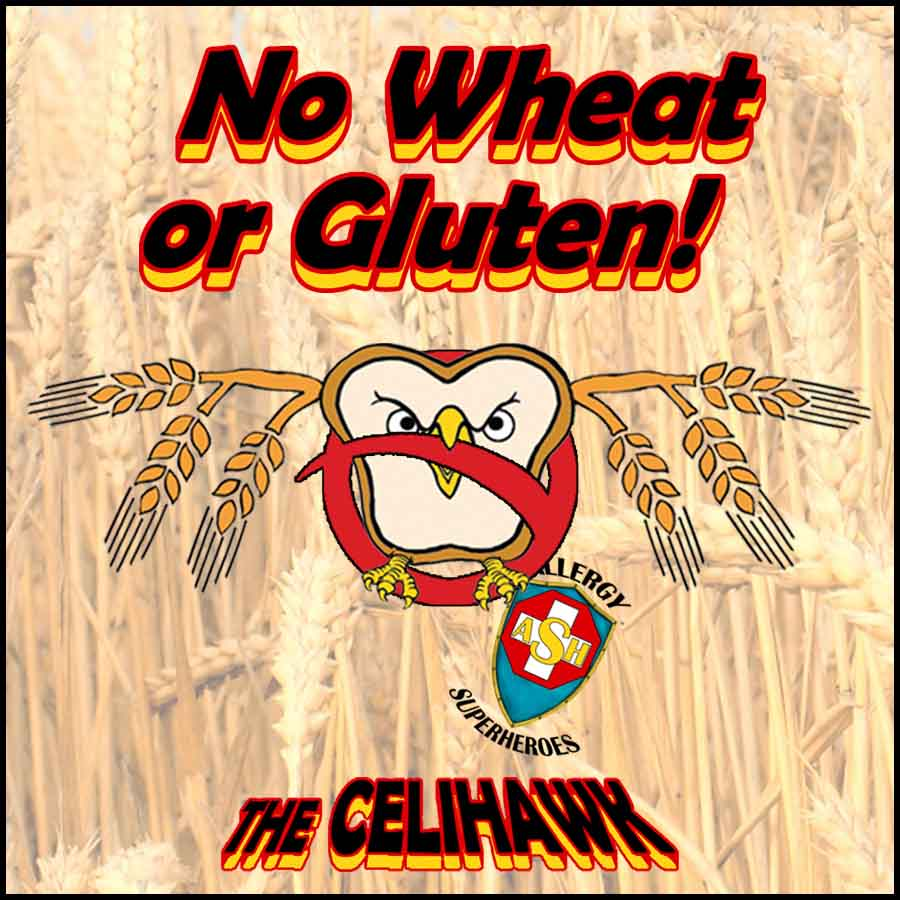 The Celihawk No Wheat Allergy Celiac No Gluten Food Allergy Superheroes