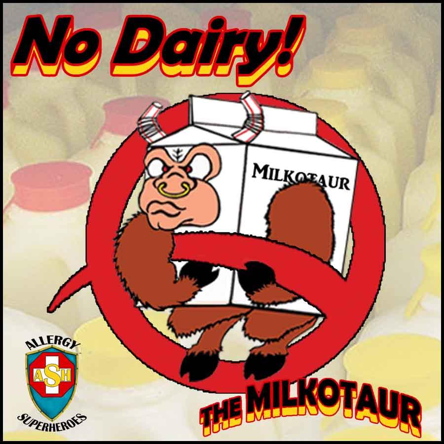 The Milkotaur No DairyAllergy No Milk Allergy Food Allergy Superheroes