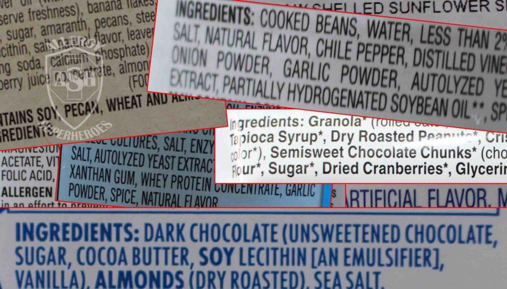 04 Ingredient Labels Food Allergy Superheroes