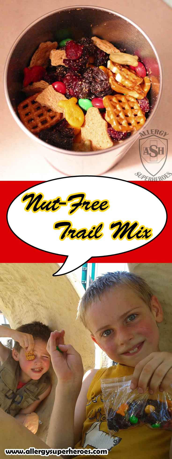 Nut Free Trail Mix | Allergy Friendly | Easy to Make and Great for Kids! | from Allergy Superheroes