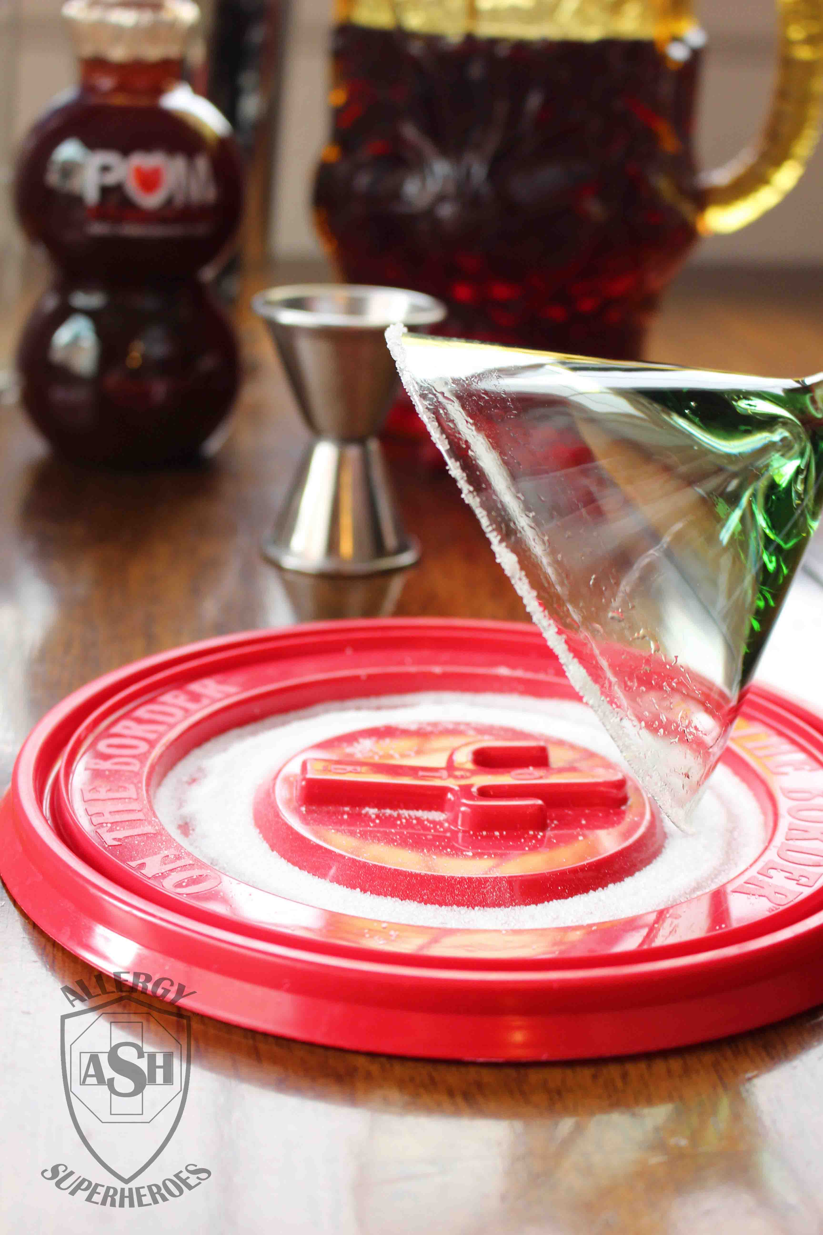 Pomegranate Martini recipe Food Allergy Superheroes 03