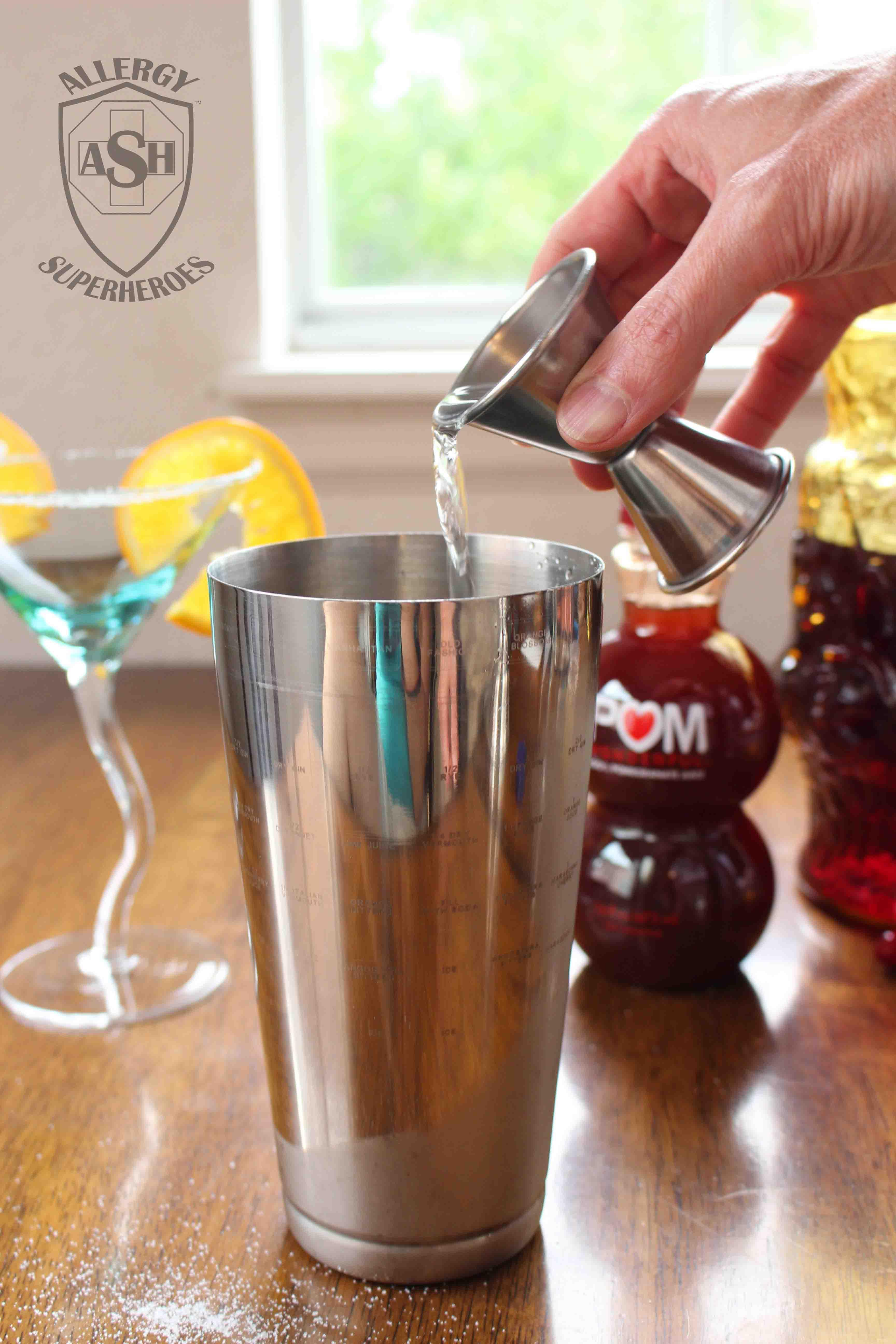 Pomegranate Martini recipe Food Allergy Superheroes 05