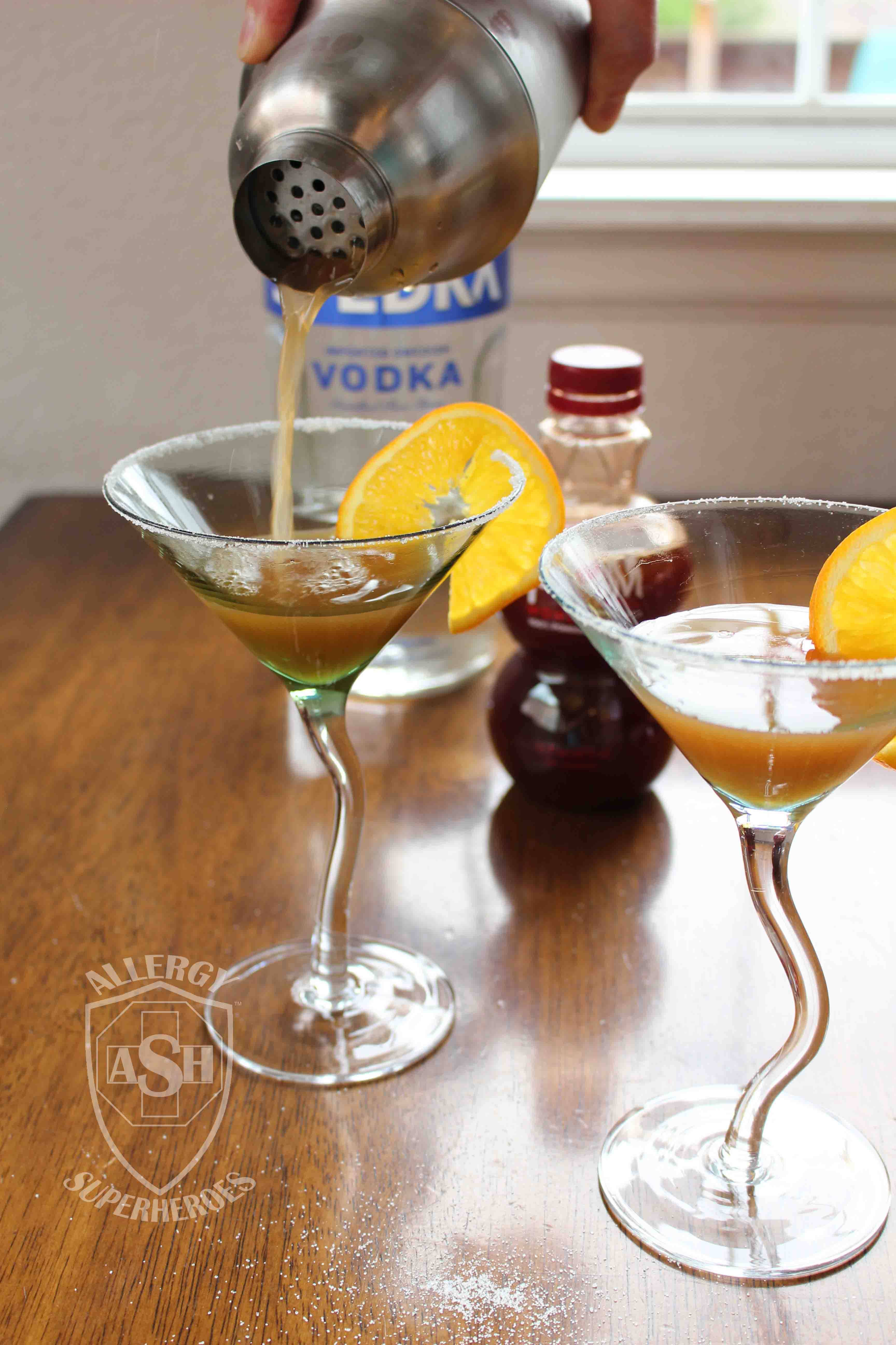 Pomegranate Martini recipe Food Allergy Superheroes 11