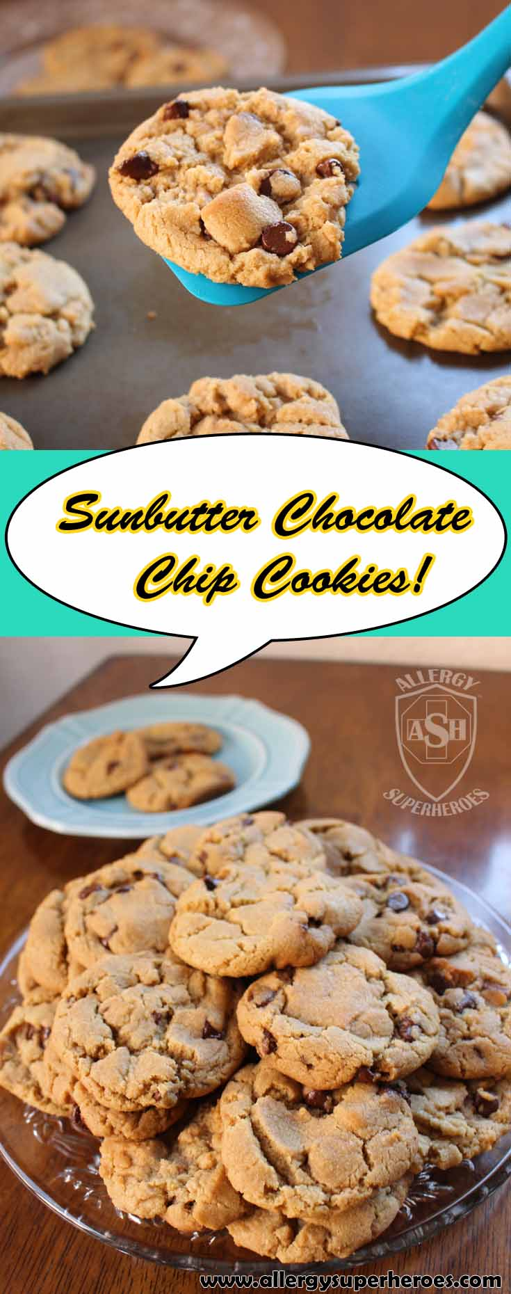Scrumptious Sunbutter Chocolate Chip Cookies!
