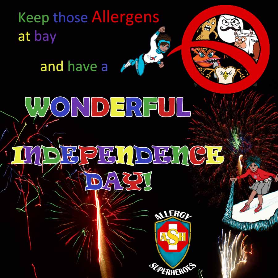 Happy 4th of July from the Allergy Superheroes
