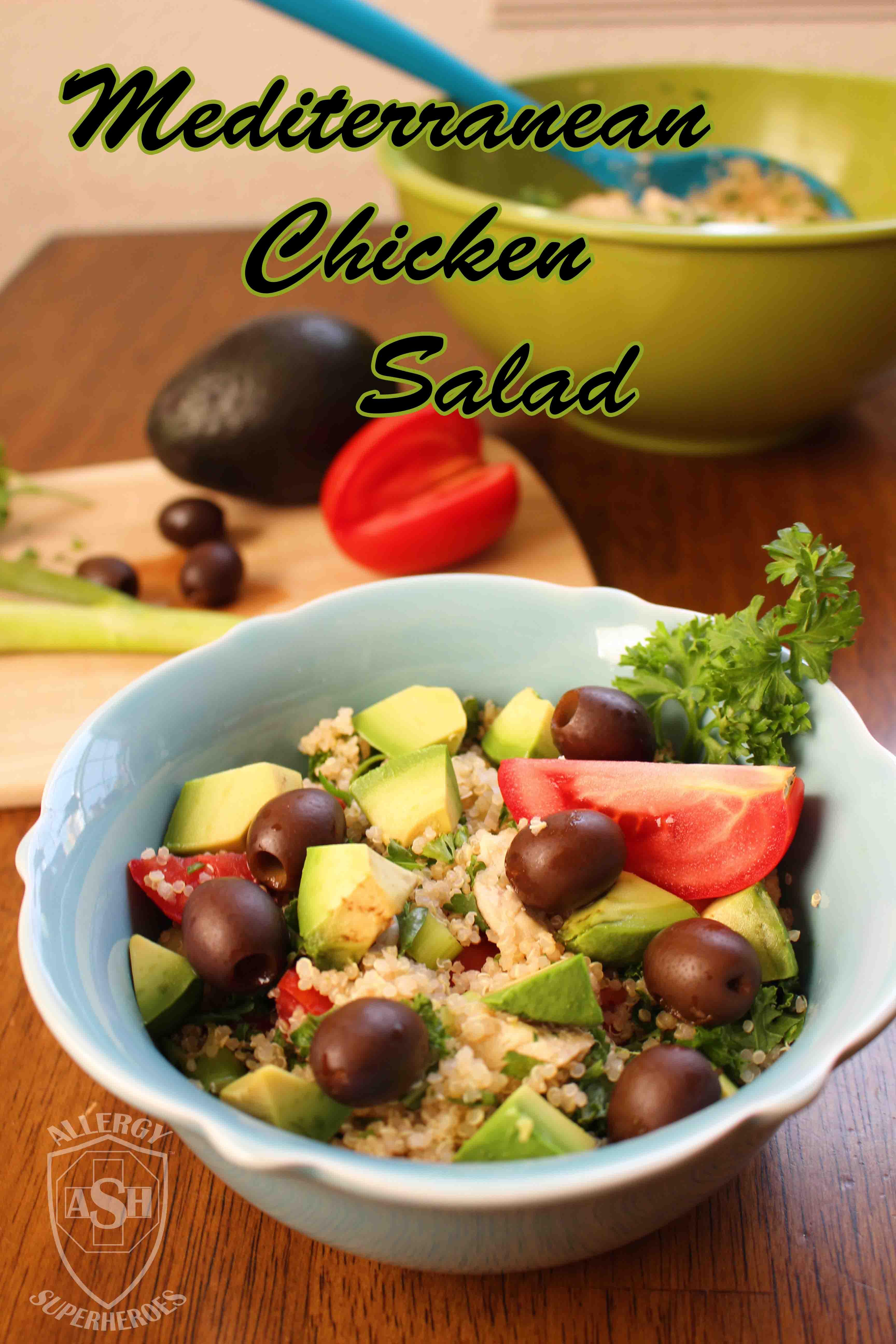 Mediterranean Chicken Salad from Allergy Superheroes | gluten-free, top 8 free, super yummy!