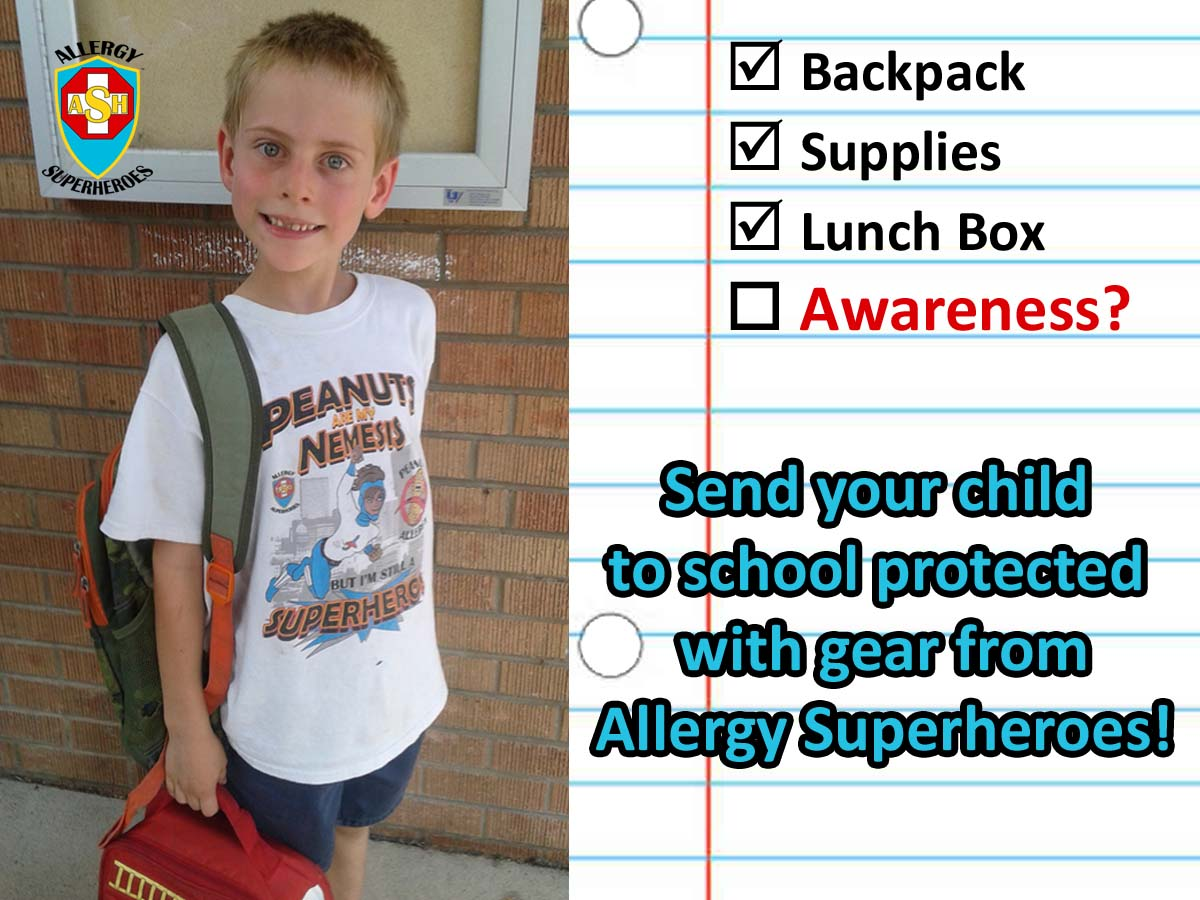 Back to School with food allergies from Allergy Superheroes