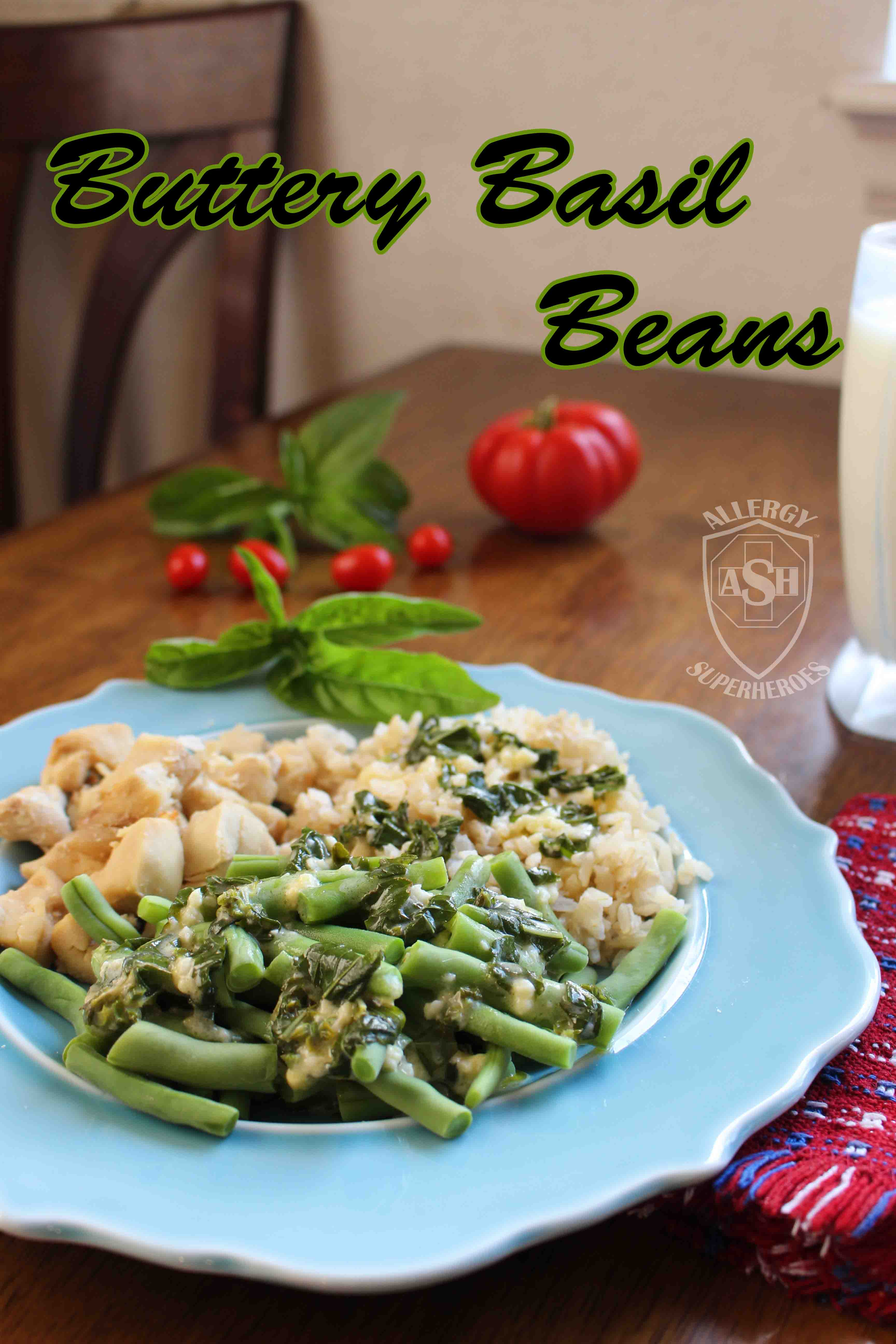 Buttery Basil Green Beans from Allergy Superheroes