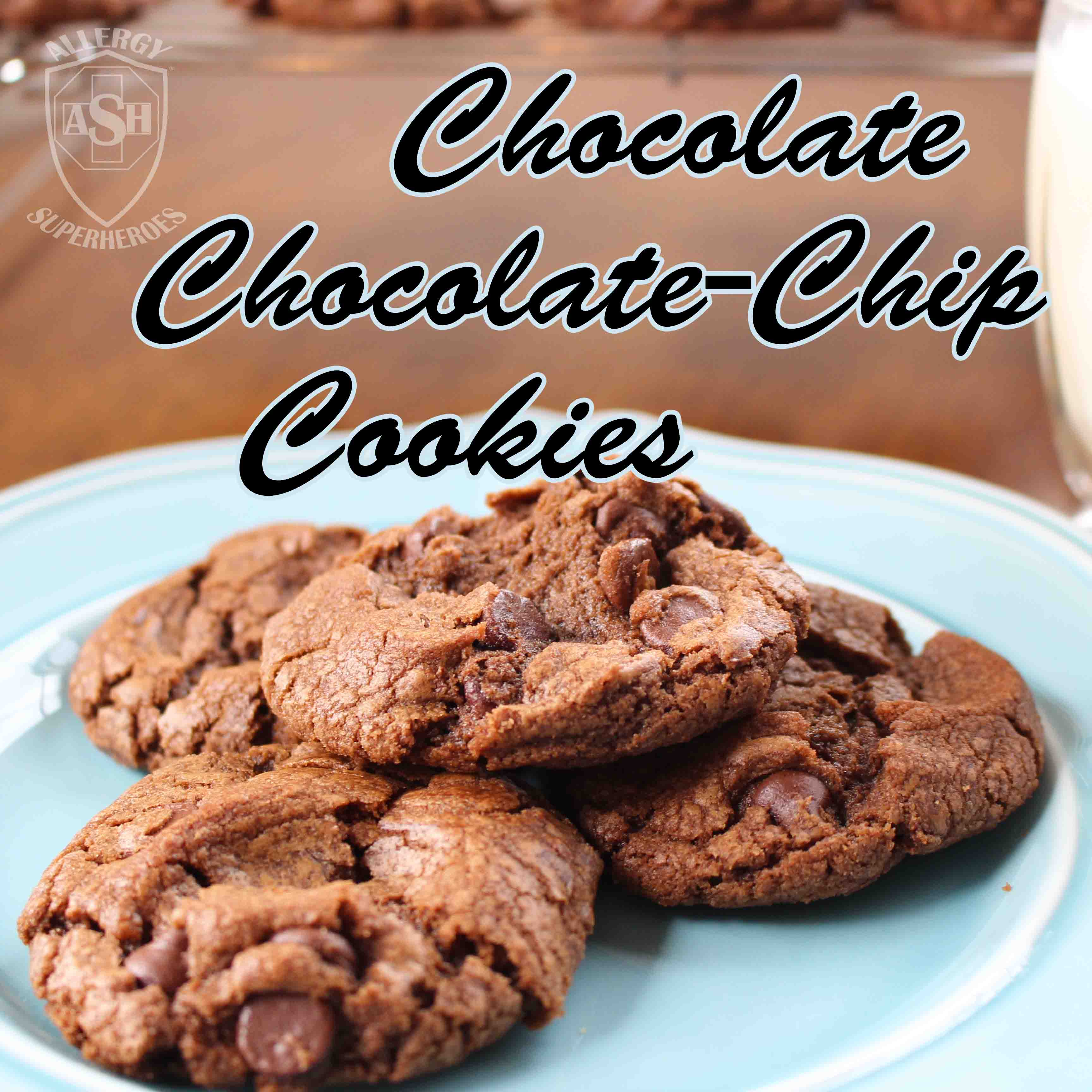 Chocolate Chocolate Chip Cookies from Allergy Superheroes | Chocolately and Delicious!