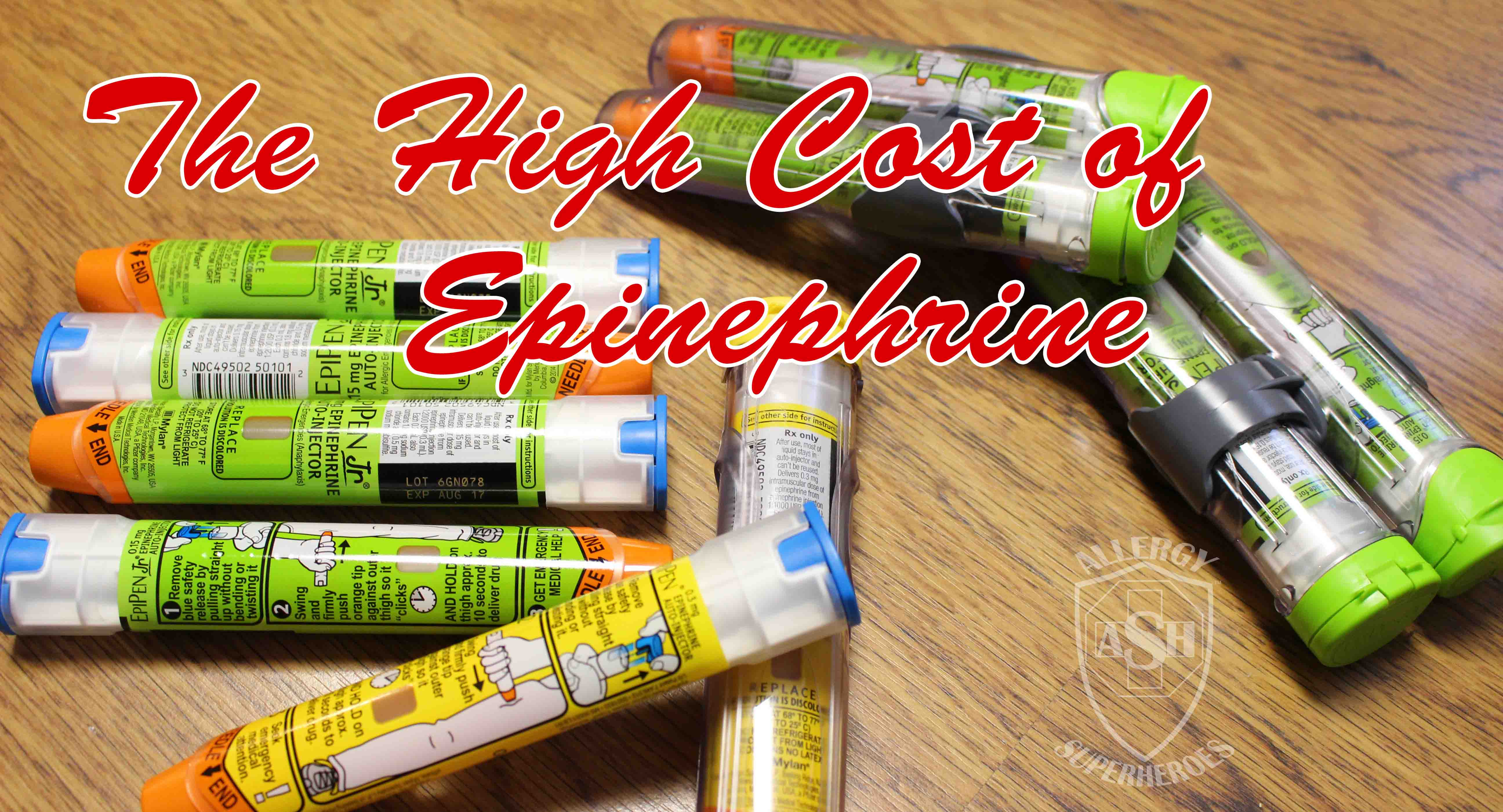 High Cost of Epinephrine Food Allergy Superheroes T