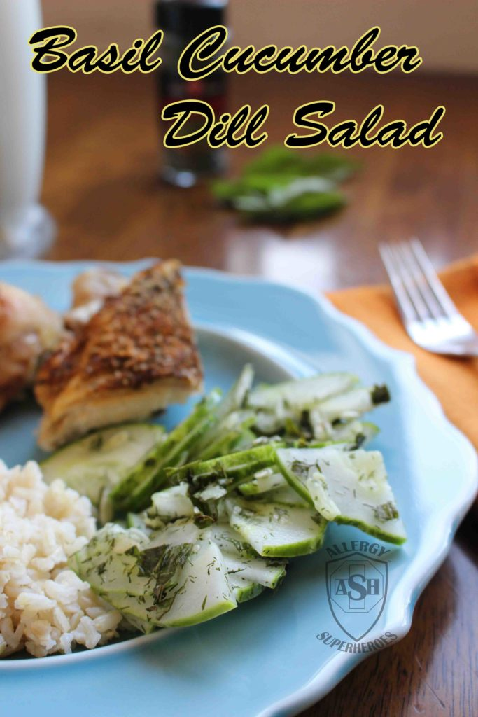Easy and Delicious Basil Cucumber Dill Salad | from Allergy Superheroes