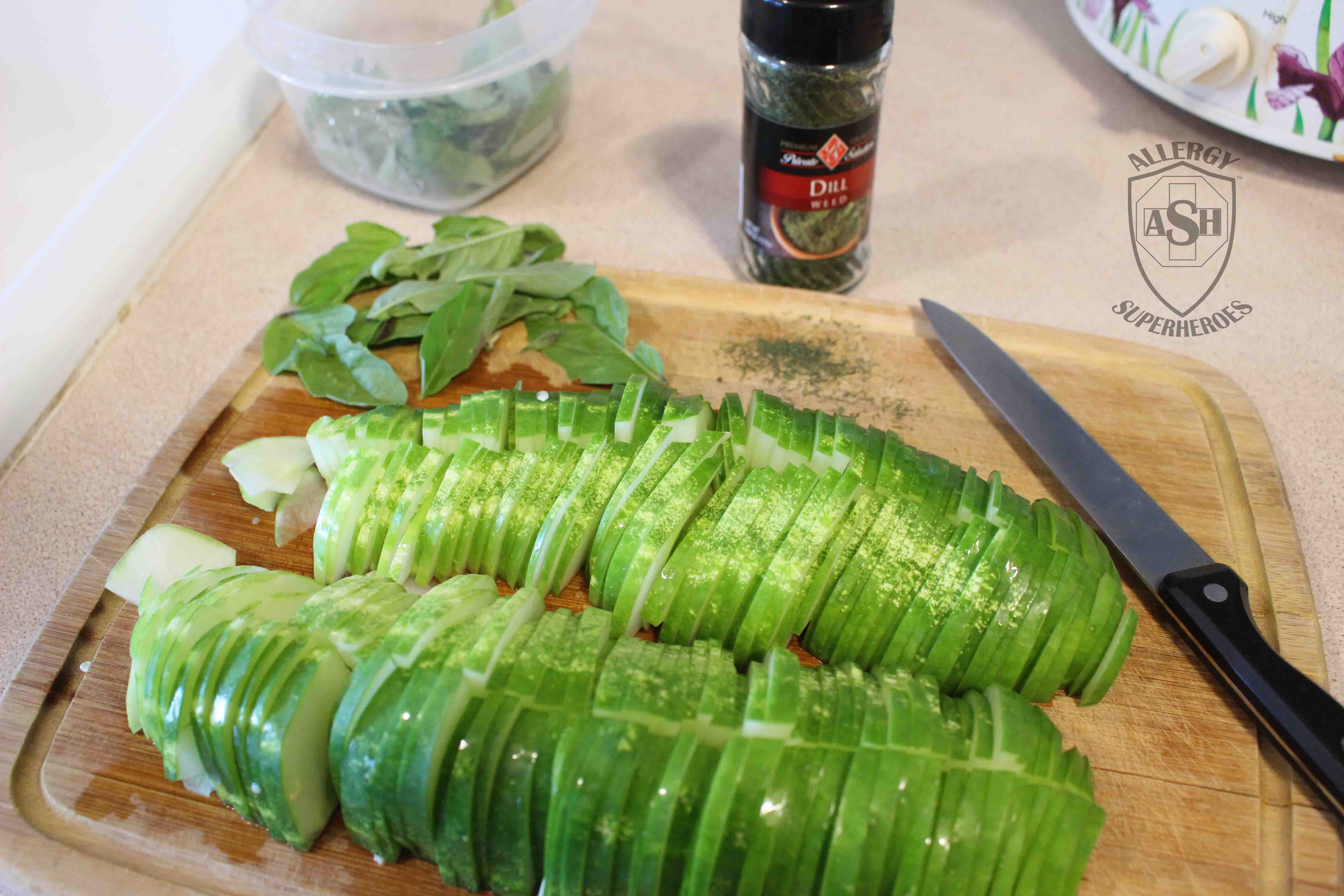 Easy and Delicious Basil Cucumber Dill Salad   from Allergy Superheroes