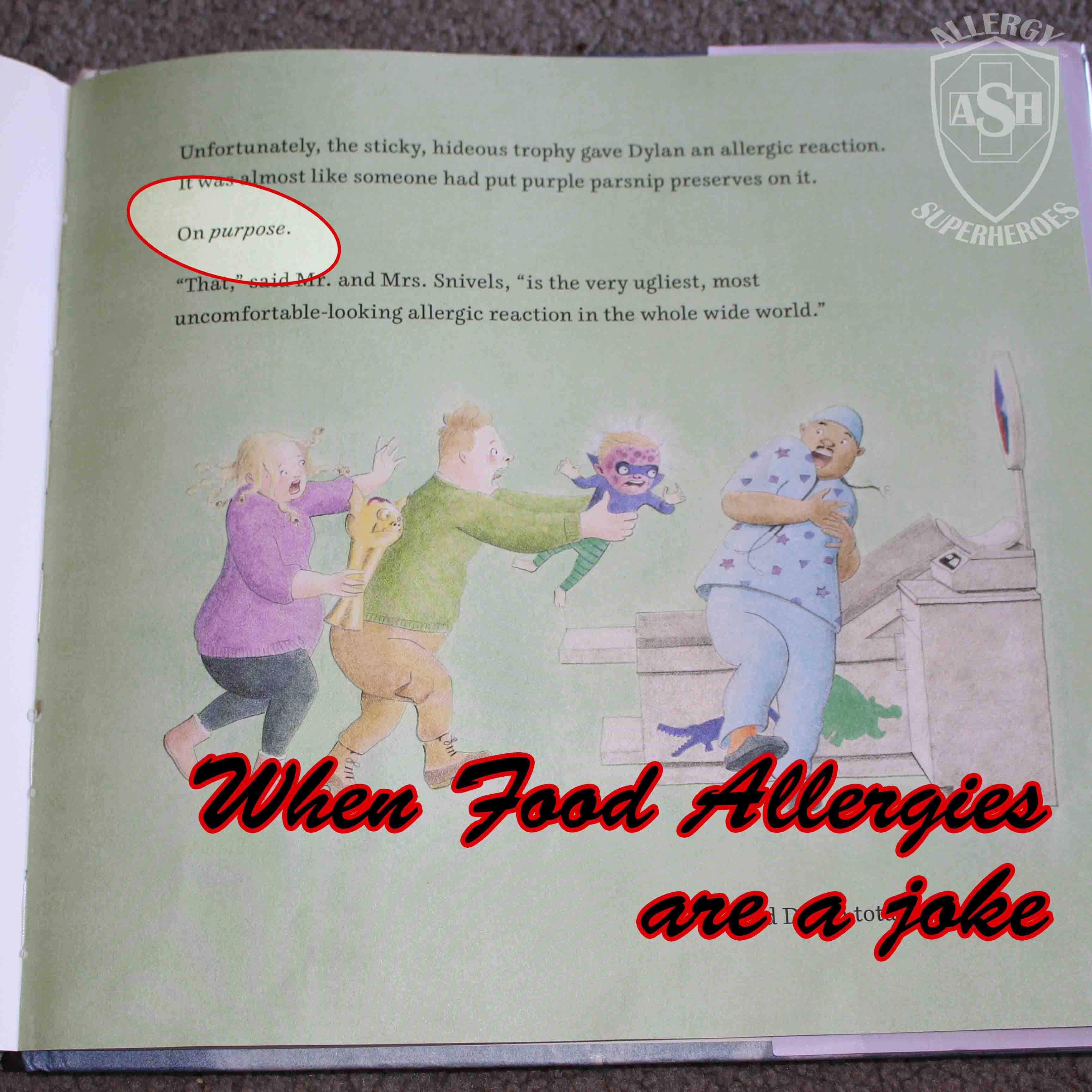 Food Allergy Parents: Be Careful of Mean Food Allergy References in Kids Books | from Allergy Superheroes