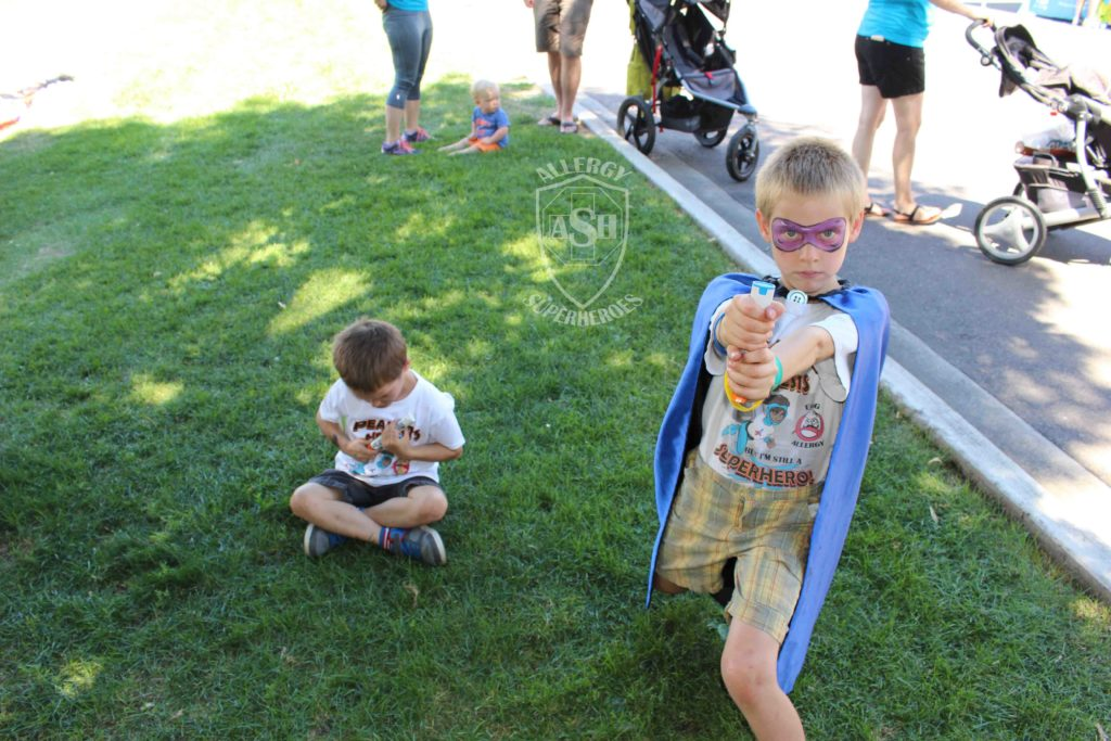 Epi Guitar and Light Saber | Team Allergy Superheroes at the 2016 FARE Walk for Food Allergy