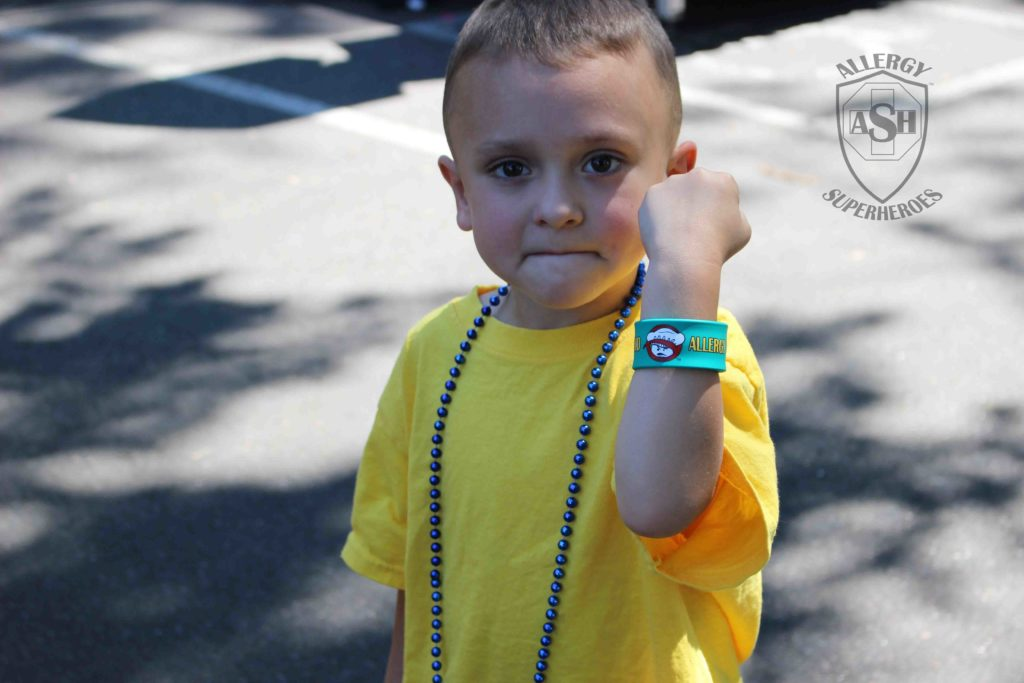 The raffle winner for a Food Allergy Slap Bracelet from Allergy Superheroes | Want one?