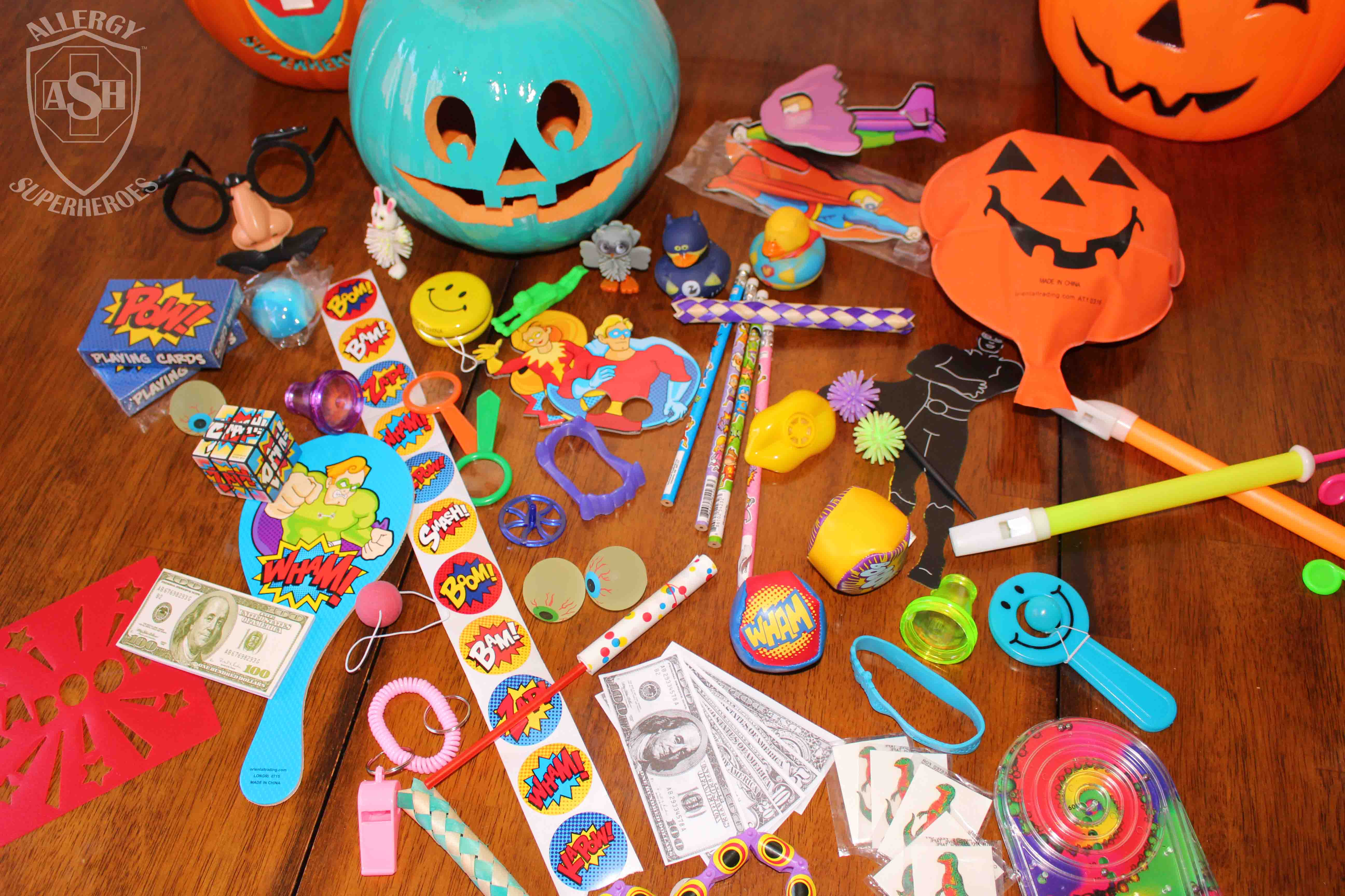 Non-food goodies for Halloween from Oriental Trading | Allergy Superheroes