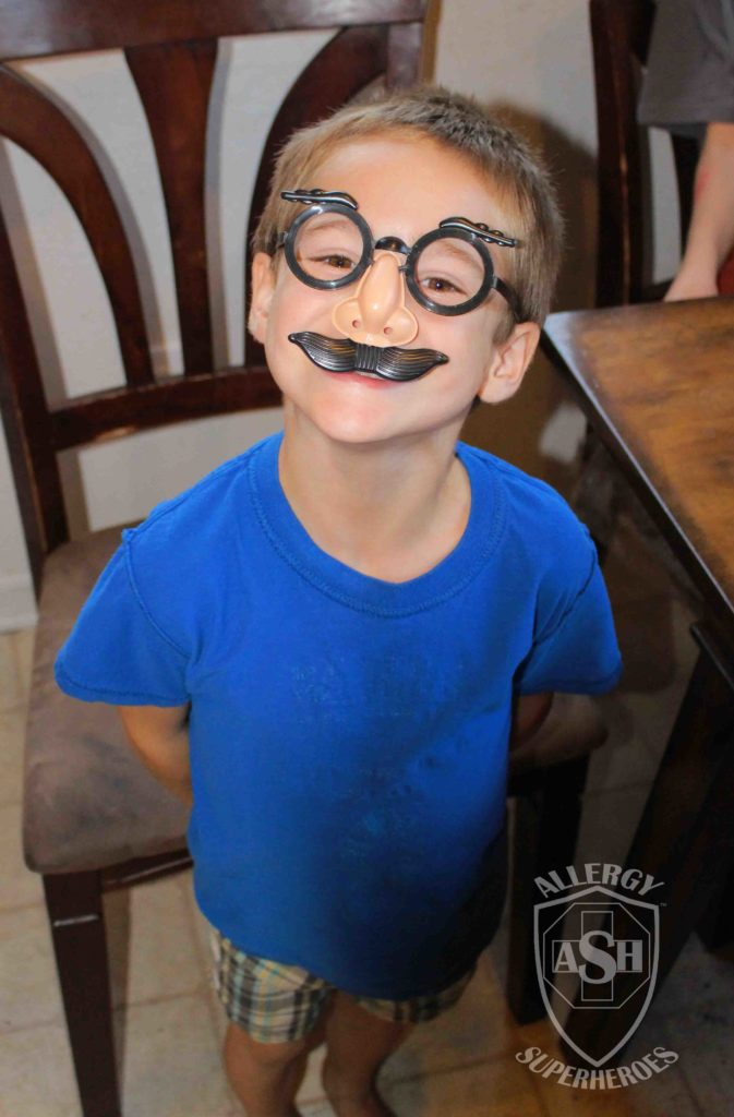 Funny glasses for Halloween from Oriental Trading | Allergy Superheroes