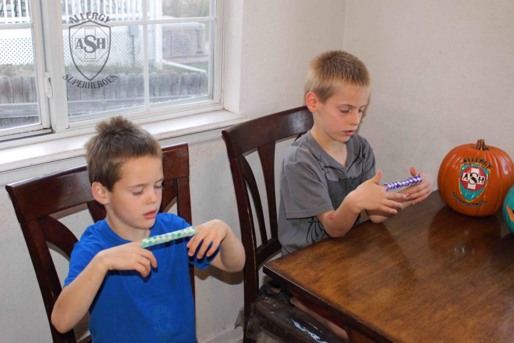 Finger Traps for Halloween from Oriental Trading   Allergy Superheroes