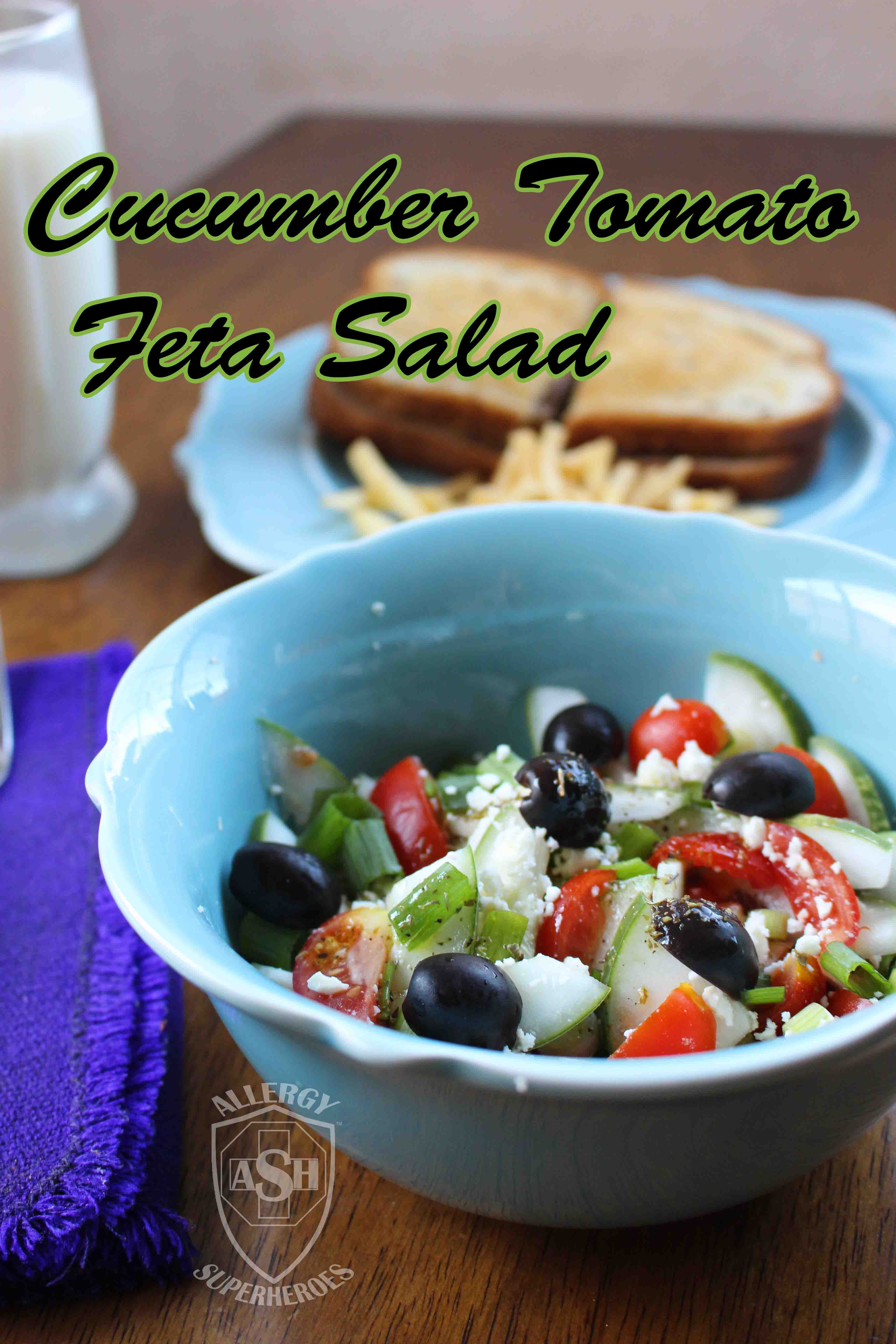 Delicious Cucumber Tomato Feta Salad | from Allergy Superheroes