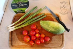 Delicious Cucumber Tomato Feta Salad   from Allergy Superheroes
