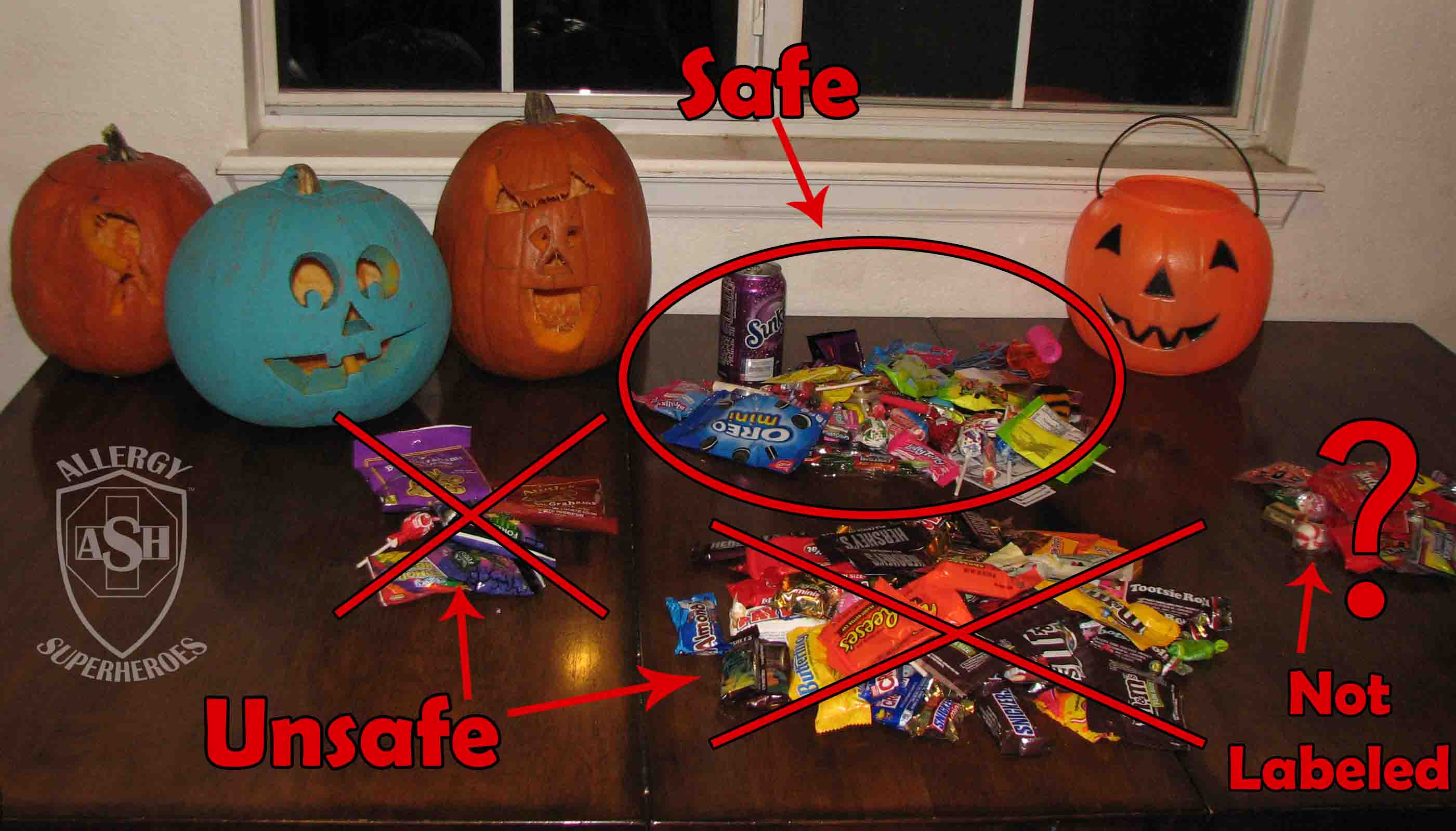 Make a Plan for your Unsafe Halloween Candy | Allergy Superheroes