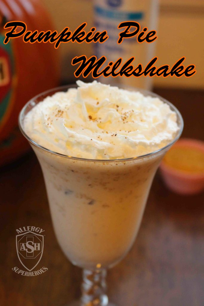 Scrumptious Pumpkin Pie Milkshake | Perfect for Autumn! | from Allergy Superheroes