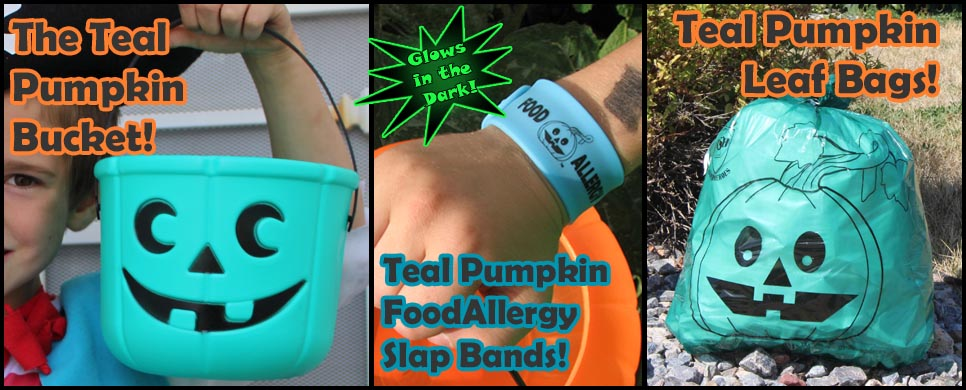 Great Teal Pumpkin Halloween Products from Allergy Superheroes