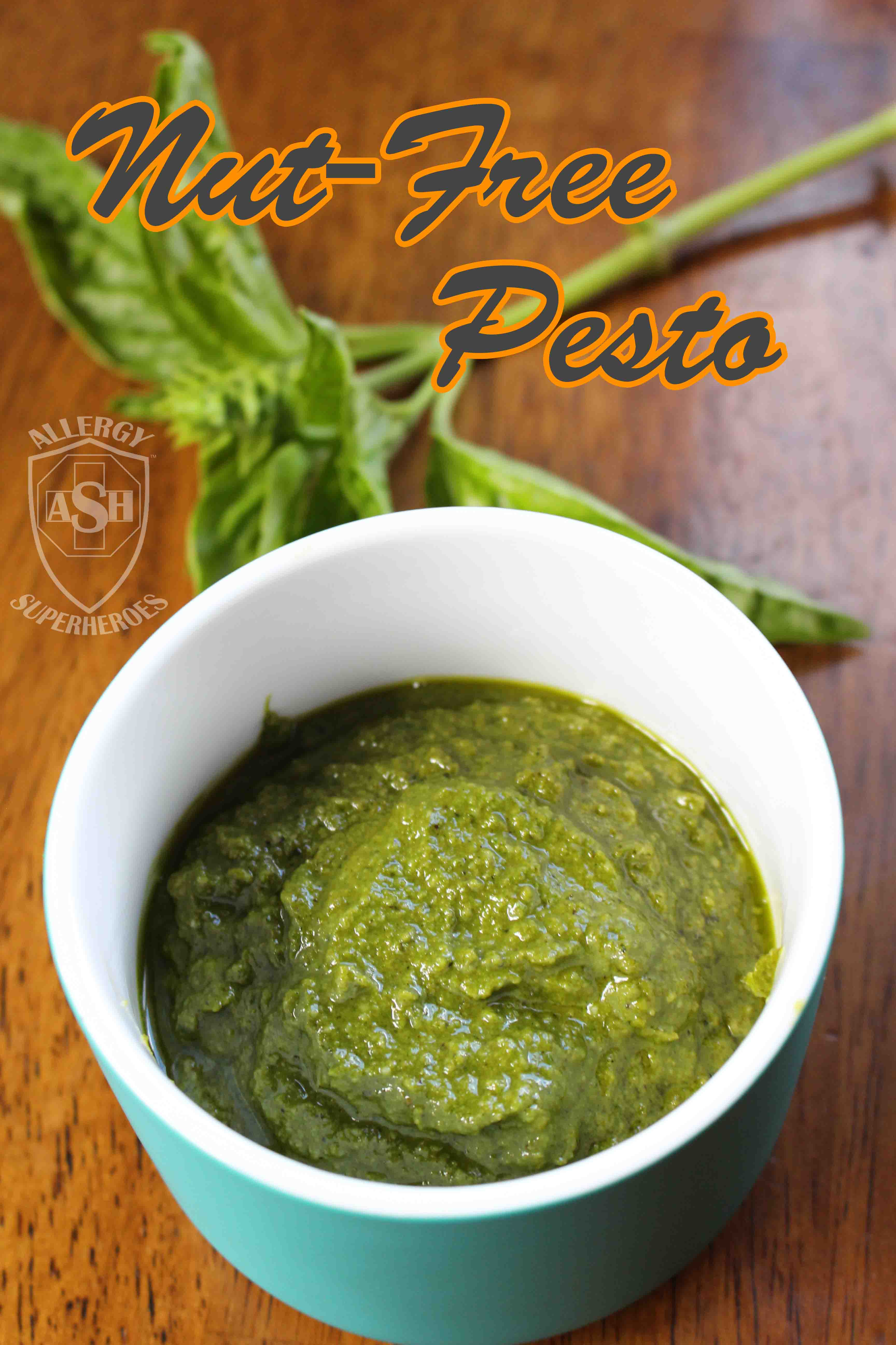 Nut-Free Pesto recipe using Hemp Seeds | from Allergy Superheroes