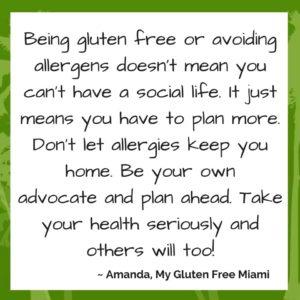 Amanda My Gluten Free Miami's New Year's Tip