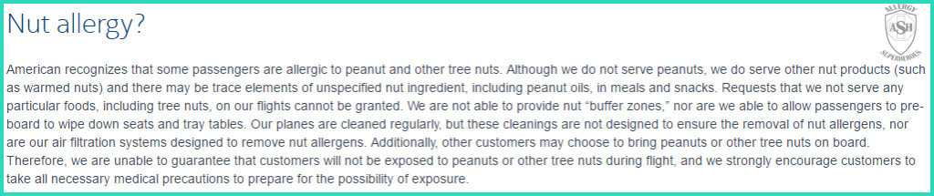 American Airlines' Discriminatory Nut Allergy Policy | Allergy Superheroes