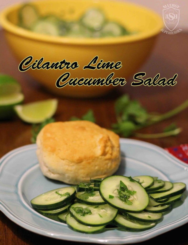 Zesty Cilantro Lime Cucumber Salad | from Allergy Superheroes