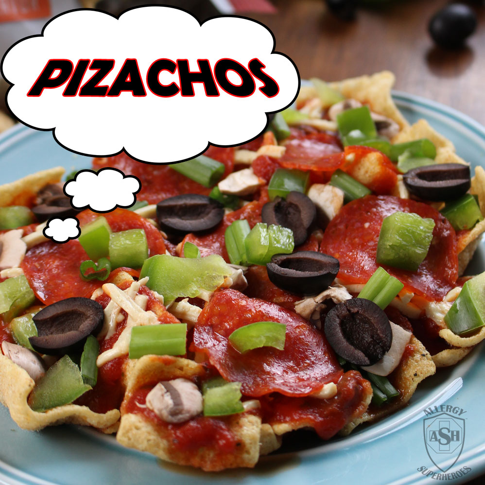 Pizachos - pizza nachos with Enjoy Life Foods Margherita Pizza Plentils. An easy, top 8 free, game day or any day treat!