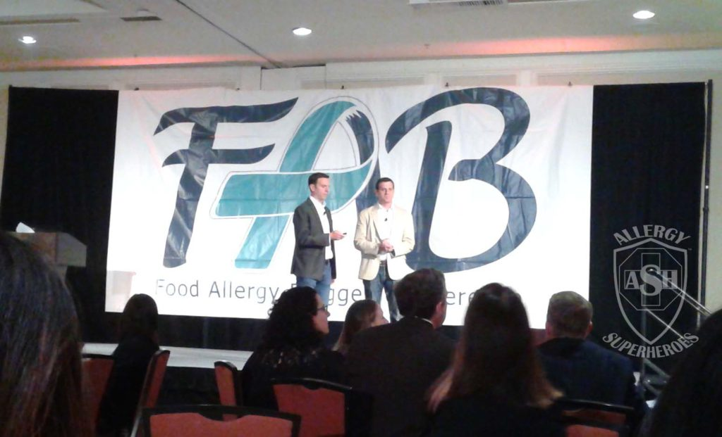 Evan and Eric Edwards speak at FABlogCon's Welcome Party | Allergy Superheroes