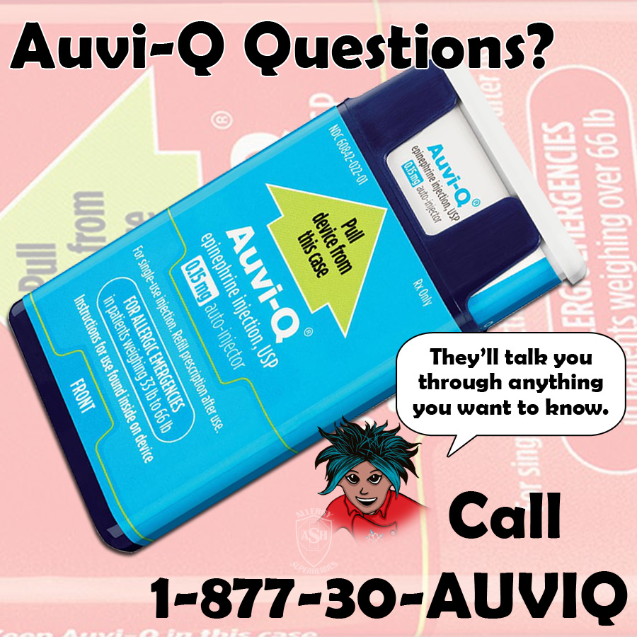 If you have questions about getting an Auvi-Q, call them from anywhere!