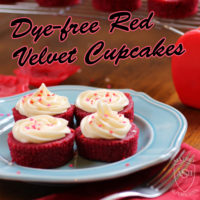 Dye-free, Allergy-Friendly Red Velvet Cupcakes from Allergy Superheroes
