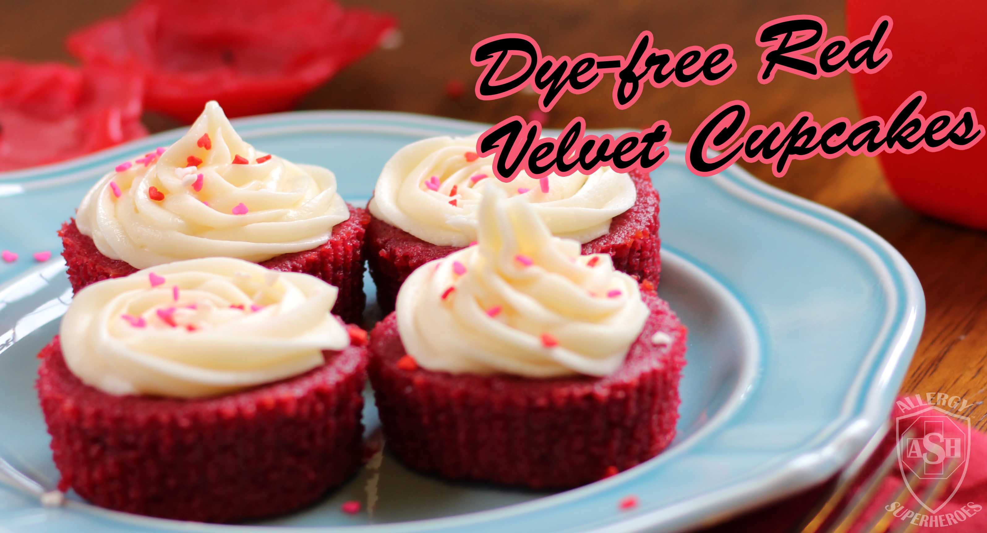 Dye-free, Allergy-Friendly Red Velvet Cupcakes from Allergy Superheroes