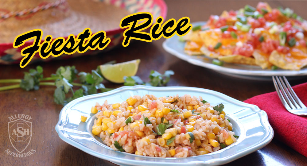 Fiesta Rice! The perfect side dish to any Mexican meal! | Allergy Superheroes
