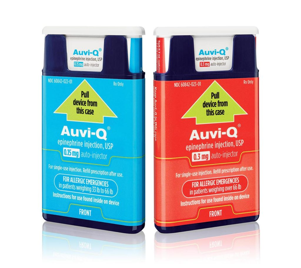 Auvi-Q Pediatric and Adult doses