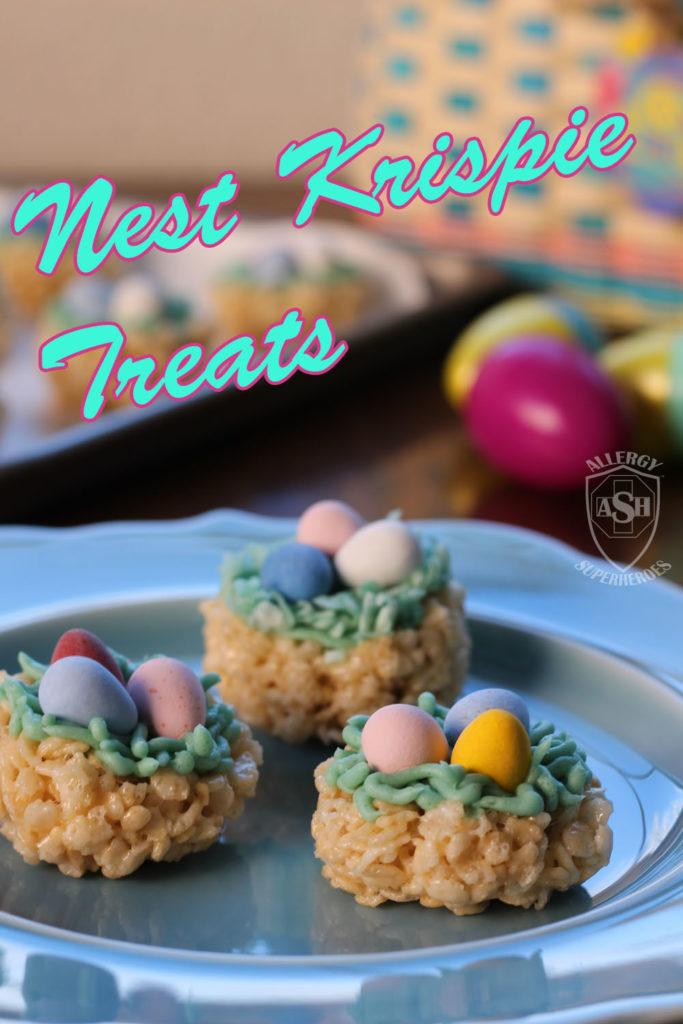 Nest Krispie Treats, the Perfect Easter Dessert! | Allergy Superheroes