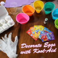 How to Dye Easter Eggs Using Kool-Aid   from Allergy Superheroes