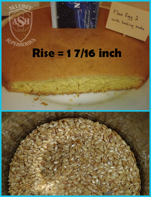 Which Egg Replacer Works Best for Cake? - This is Flax with baking soda | Allergy Superheroes Blog